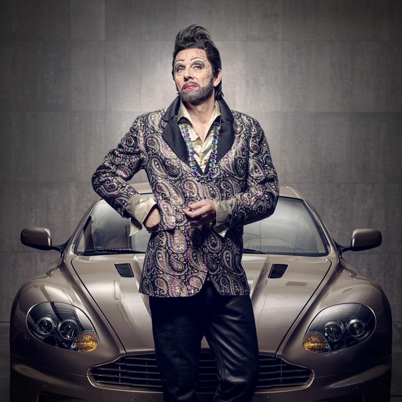 Jööhan Aston Martin Car Fashion Glamour Lifestyles Looking At Camera Men Portrait