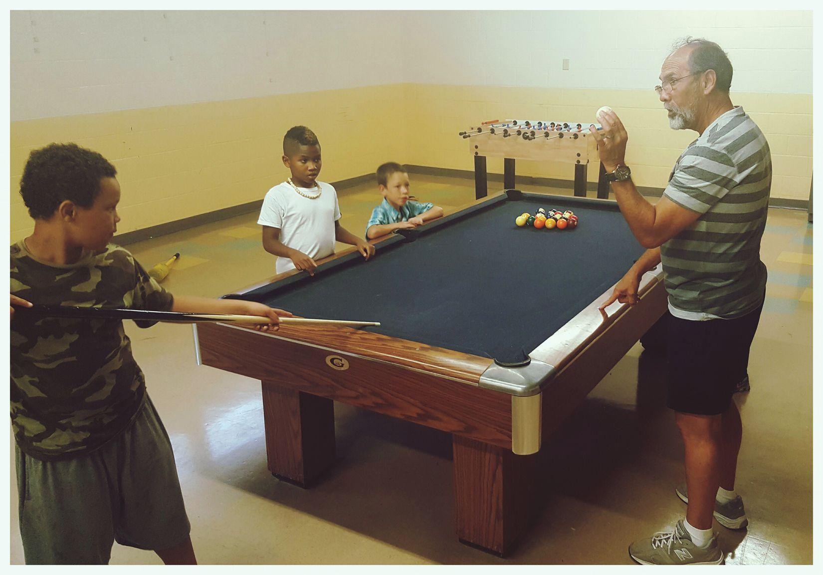 Teaching the kids how to shoot pool ... ShootingPool