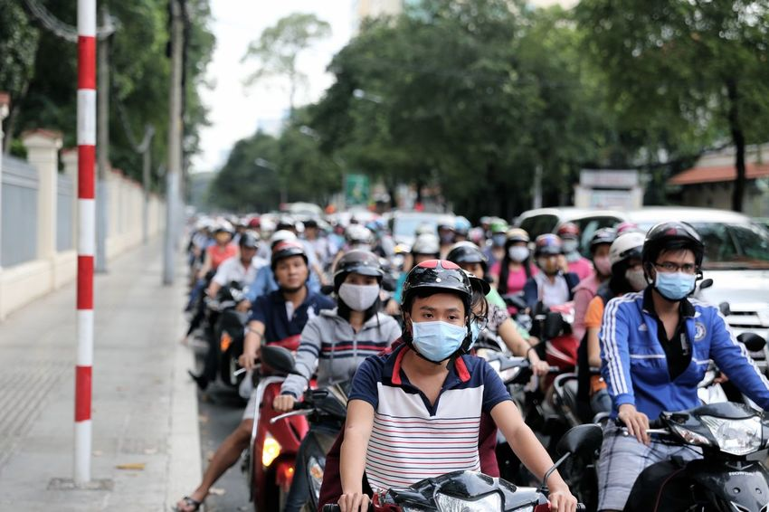 Traffic Traffic Jam Vietnam Ho Chi Minh City Hanoi Hustle And Bustle Motorcycle