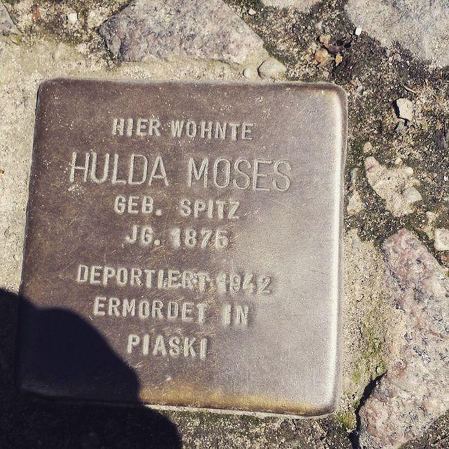 Stolperstein Gedenken Deportation Nszeit Berlin Verbrechen 1942 Deportiert