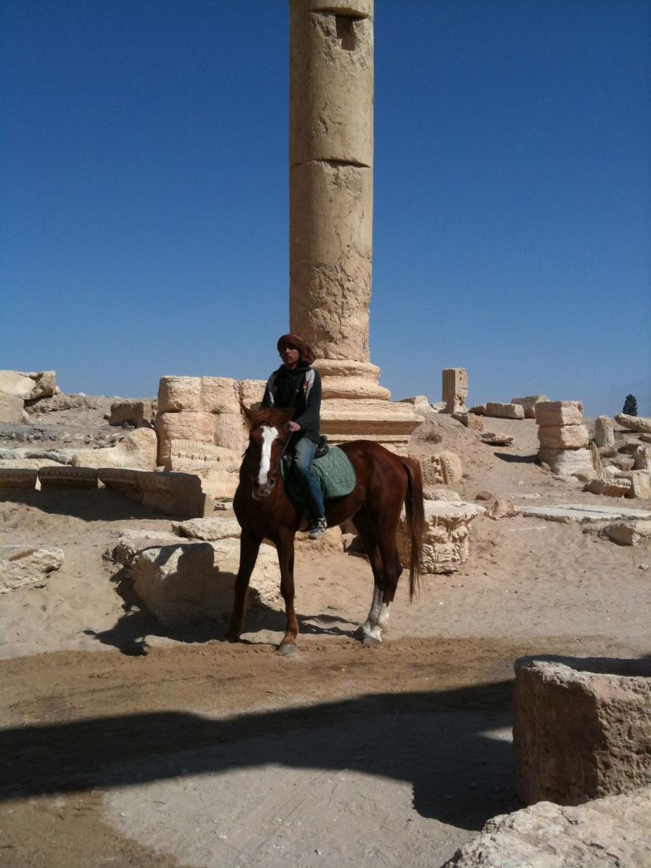 Syria  Palmyra Horse Riding Guide Archaeology Archaeological Heaven Desert Desert Beauty