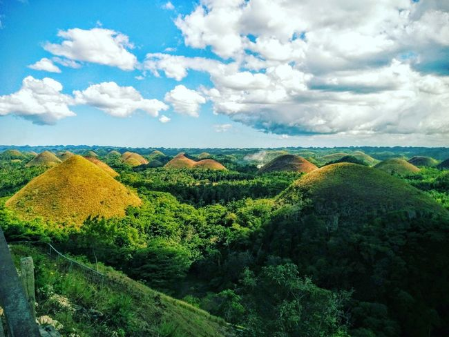 Nature Photography Tourist Attraction  Naturephotography Bohol Ecotourism Hills Hills And Valleys Hills, Mountains, Sky, Clouds, Sun, River, Limpid, Blue, Earth Chocolatehills Nature Nature_collection