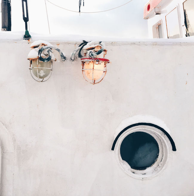 Found this old ship in the Pirita yacht harbor, and this cozy atmosphere with the two lanterns above the porthole made me want to take that shot. No People White Simplicity Minimalism Minimalistic Ship Vessel Lantern Lanterns Illuminator Porthole Old Old Fashioned Sunny Snowy Cozy Cold Winter Pirita Tallinn Estonia