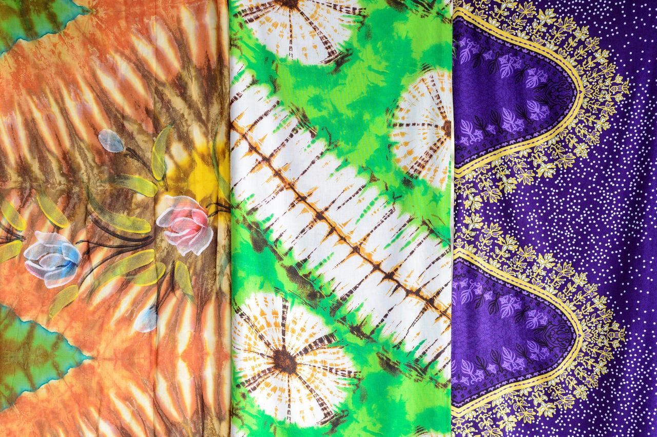 Batik Pattern Batik Beautiful Colorful Fabric Handmade Local Knowledge Pattern Textile
