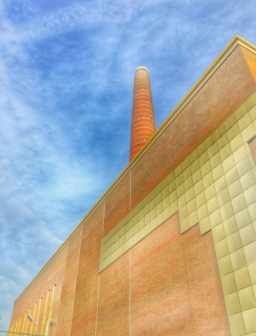 low angle view, built structure, architecture, sky, building exterior, day, no people, cloud - sky, outdoors, close-up