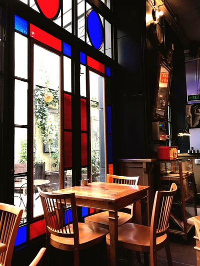 Table Indoors  Chair No People Window Day Illuminated Cafe Cafeteria Istanbul Turkey Aracafe