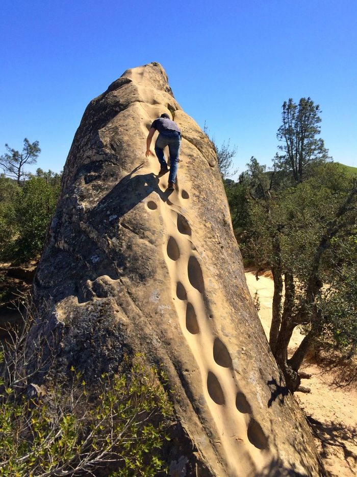 Climbing with my nephew at Rock City on Mt. Diablo On A Hike California Mountains Climbing
