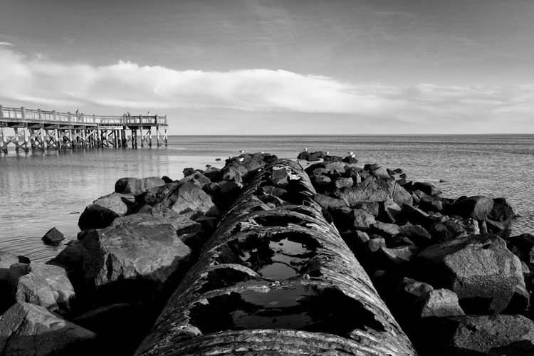 Beach Beauty In Nature Cloud - Sky Day Groyne Horizon Over Water Nature Nikon No People Outdoors Rock - Object Scenics Sea Sky Tranquil Scene Tranquility Water