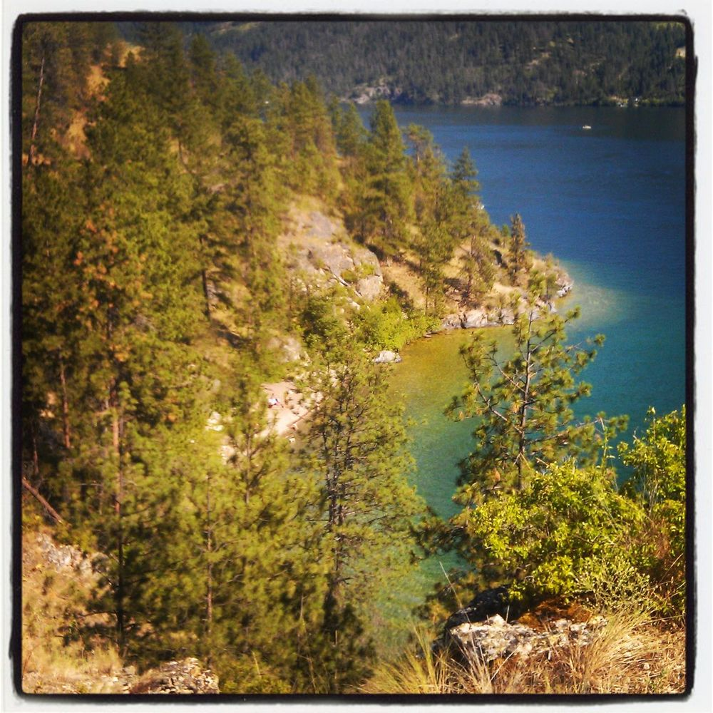 Beauty In Nature Day Forest Growth Idyllic Kalamalka Lake BC Kalamalka Provincial Park Nature No People Outdoors Rattlesnake Point Scenics Sky Tranquil Scene Tranquility Tree Water
