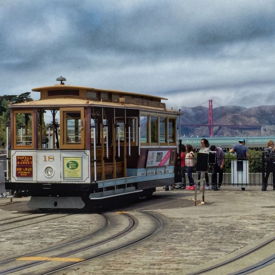 Recent San Francisco trip. Cable car and the Golden Gate Bridge. San Francisco 4th Of July Cable Car Golden Gate Bridge IPhoneography