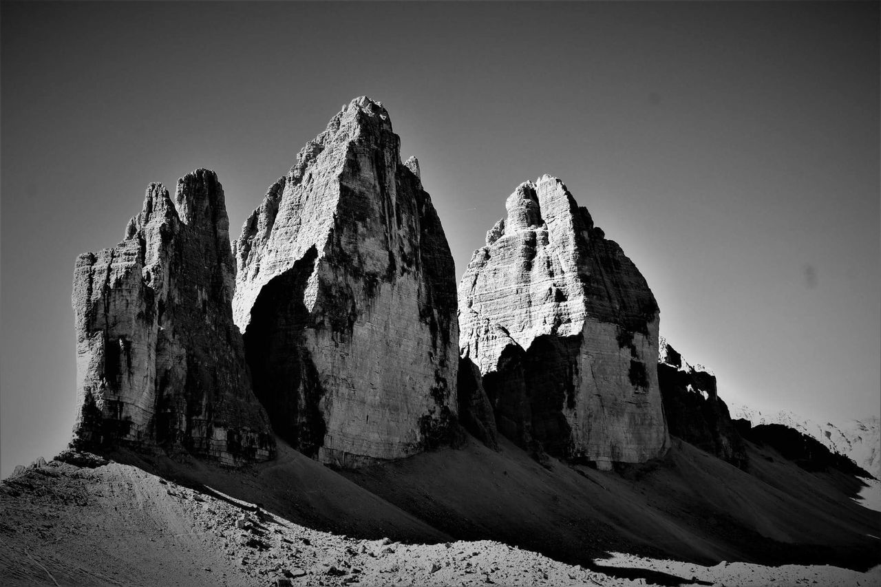 Tre cime di lavaredo Geology Rock - Object Physical Geography Nature Scenics Outdoors Rock Formation