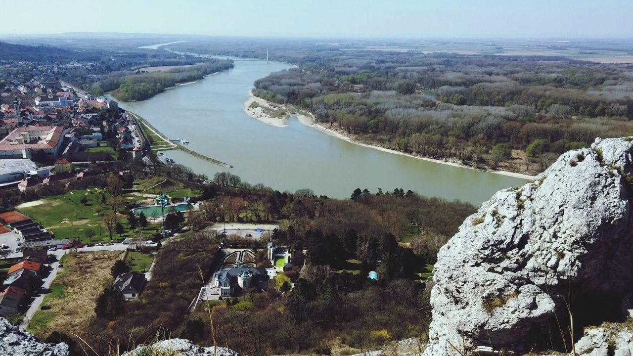 Danube by Hainburg. Austria High Angle View Water Outdoors River View River Danube River Danube Cityscape Aerial View Landscape_Collection Landscape
