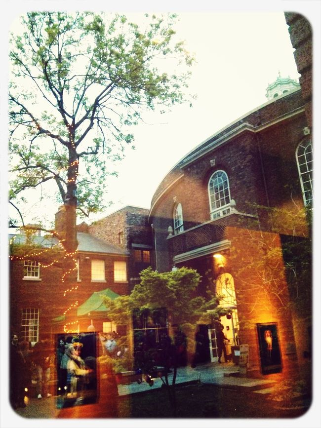 Last night at the Bluecoat for #lightnight. Inside looking out. http://t.co/UQipNhUplE