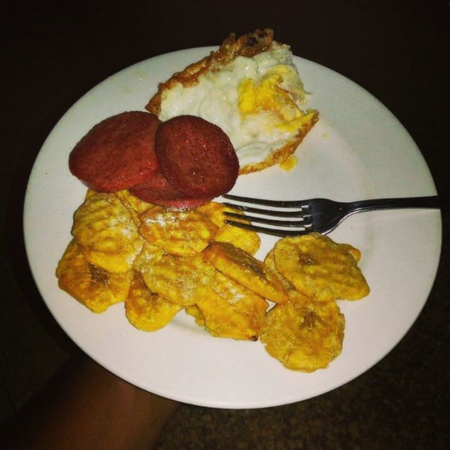 Missing the boo's cooking really bad today! 😛🍳💋😛❤ ChefJho Dominicancooking Dominicansbelike Salami Tostones Huevos Nevertoofaraway DRLife Comingsoon
