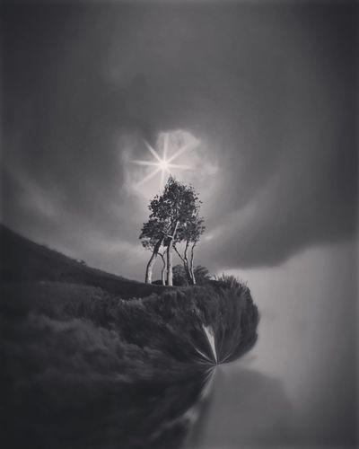 Circular Digital Art Blackandwhite Dark Beauty In Nature Beach Black & White Cool Edit