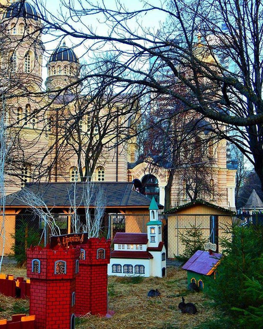 Trušu pilsētiņa Esplanādē Truši Esplanade Katedrale Rabbit Rabbits Riga Latvia Latvija