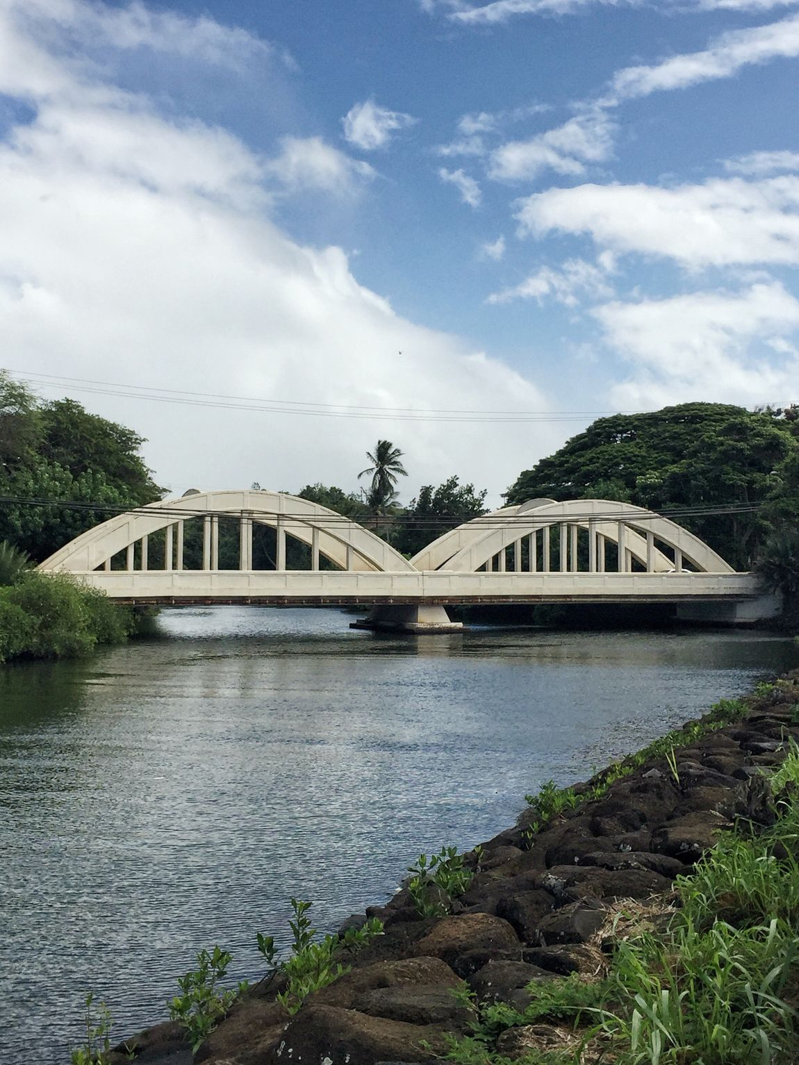 Old Haleiwa Bridge. Outdoors Photograpghy  Hawaii Travel Destinations Travel Travel Photography Found On The Roll Trees And Sky Water Park Bridge Bridges History Historic Haleiwa Bridge, Haleiwa Hawaii