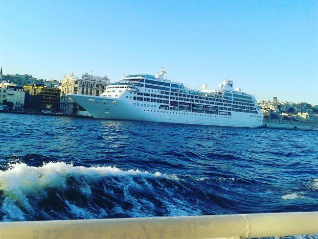 Sea Water Nautical Vessel Ship Day Beach Nature Outdoors Sky UnderSea No People Scuba Diving Istanbul City Bosphorus, Istanbul Bosphorus Bridge Traveling Istanbul Turkey Cruise Ship