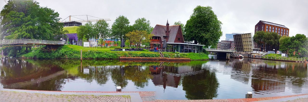 Hi! Hello World Nederland Panoramic Panoramic Photography Panoramic Landscape EyeEm Best Shots Urban Bridge Tree Water Reflections Water_collection Water Beautifulday Panoramic View City View  City Sehir Lake View Lake Lakescape Lakeside Lakelife