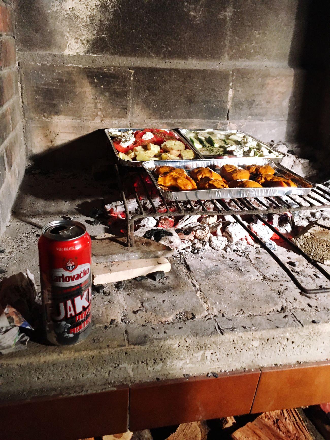 Karlovacko Kroatien Kroatia Vis Grilling Grilled Beer Bier Pivo Vegetables Griller Grill Meet Holiday