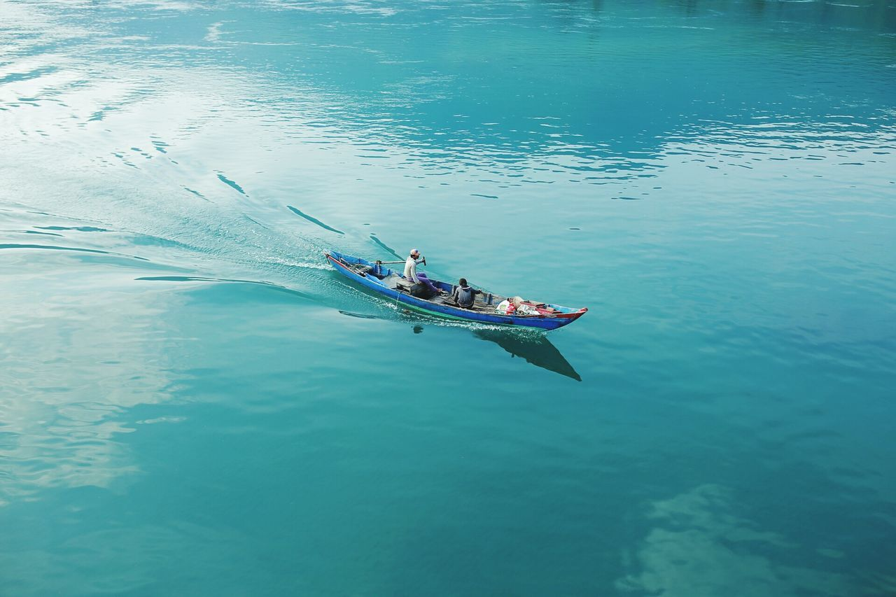 Beautiful stock photos of peace, Blue, Boat, Day, High Angle View