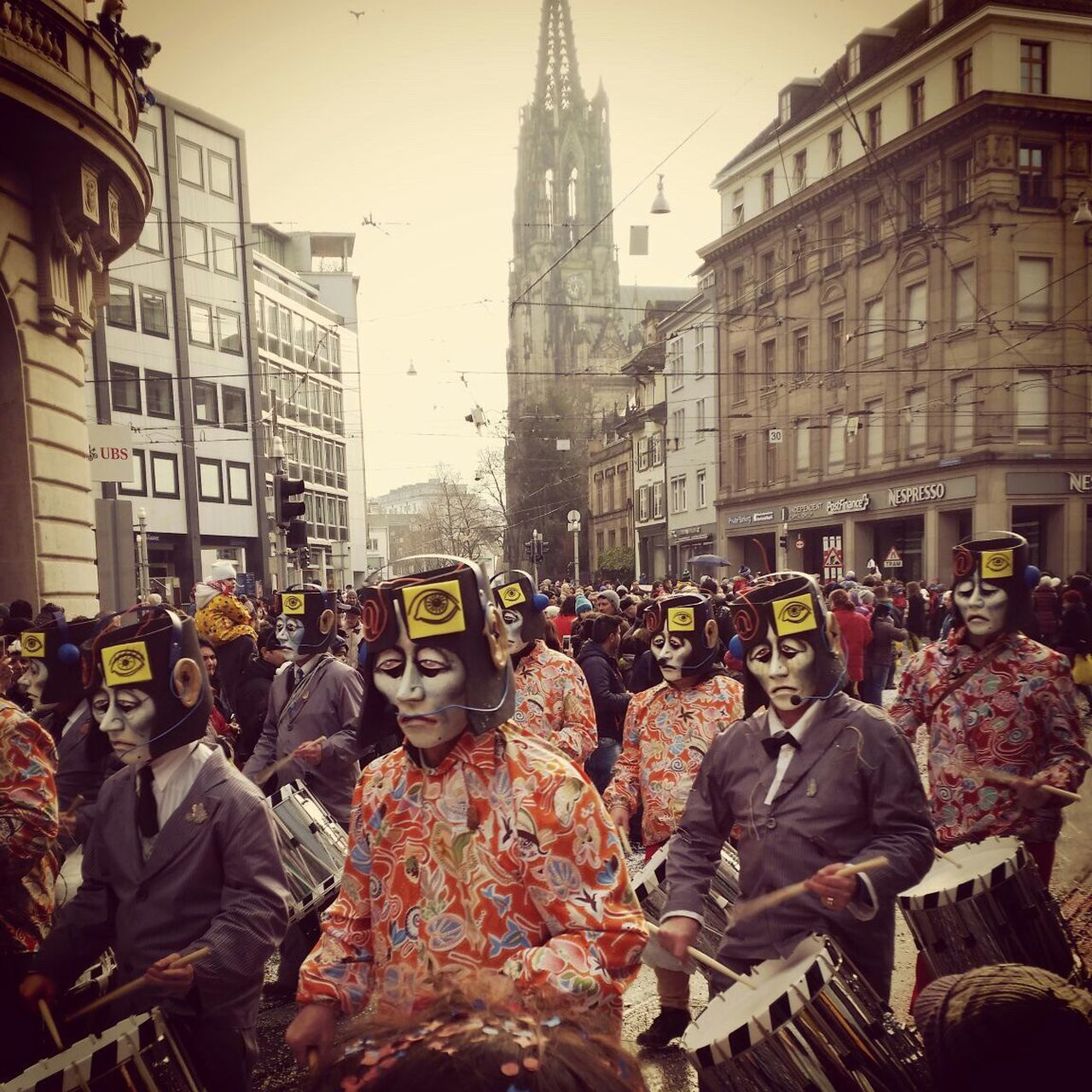 Carnival Crowds And Details Basler Fasnacht Clique