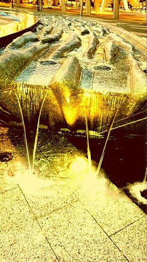 Gold water Gold Water Water Sculpture Running Water Ripples In The Sand Sculptured Sand