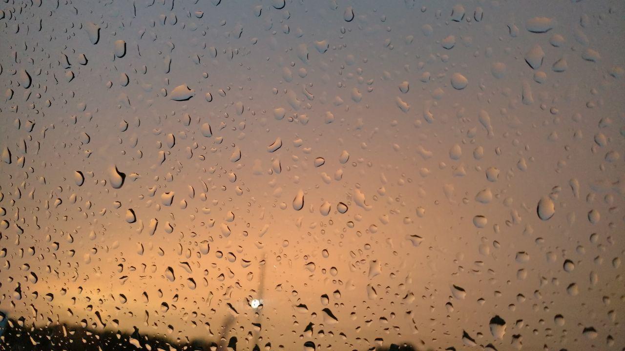 drop, backgrounds, full frame, wet, no people, water, window, raindrop, indoors, close-up, illuminated, night, nature, sky