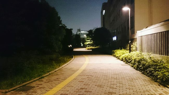Night Photography Passage Street Lamp