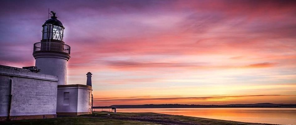 Beach Built Structure Chanonrypointlighthouse Cloud - Sky Horizon Over Water Lighthouse Nature Night No People Outdoors Sea Sky Sunrise Sunset
