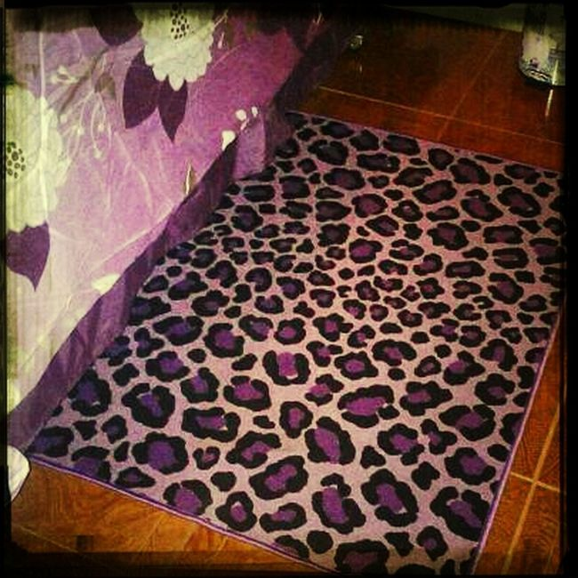 My New Rug ^.^ #purple #animalprint