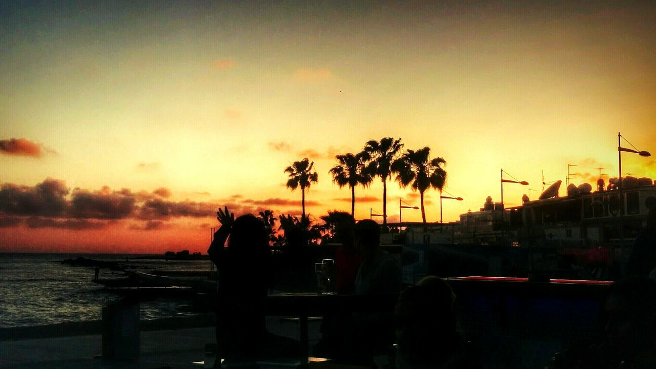 Sunset Sunset Silhouettes Summer Is Coming Palm Trees Mobilephotography Mediterranean Sea