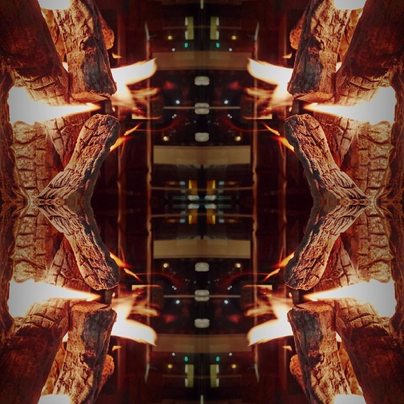 Reflection Symmetry No People Indoors  Fire Wood Perspective Photography