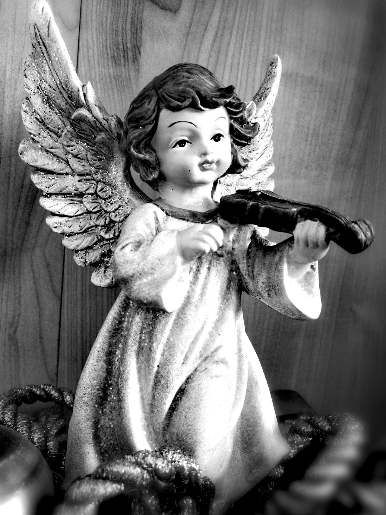 The sound of angels . Indoors  Close-up No People Statue Angel Wings Angels & Demons Angel Statues LoveGodlovepeople Lovegod EyeEmNewHere