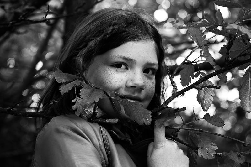 My beautyful daughter Blackandwhite Blackandwhite Photography Child Children Photography Day Girl Plant Portrait