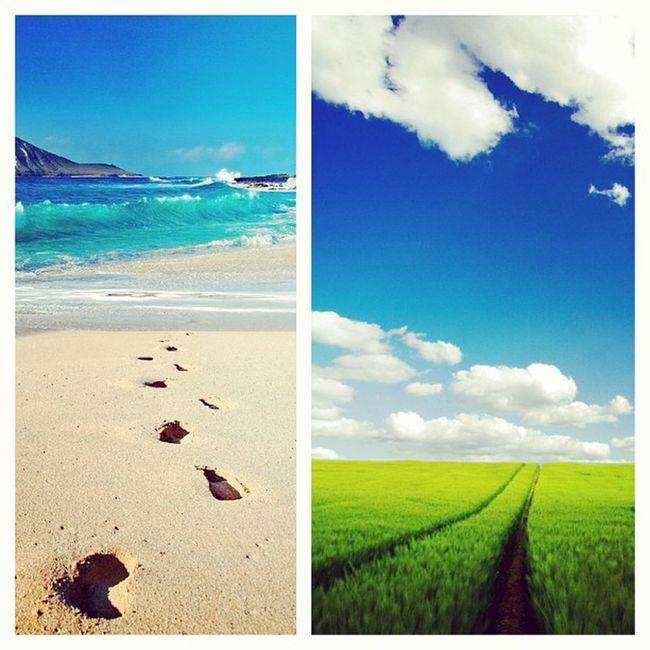 Two places I wish I wish I could be. Countryside Beach Ineedavacation