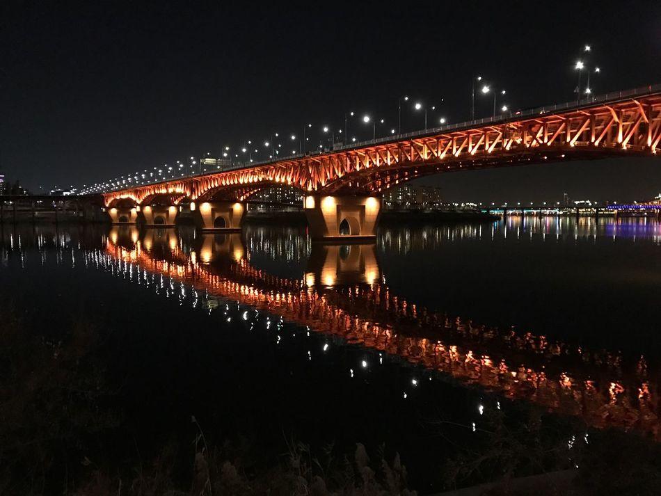 No Filter No Edit just IPhone7Plus Photography Hanriver Seoul, Korea Sungsoo Bridge 성수대교 한강 汉江 首尔