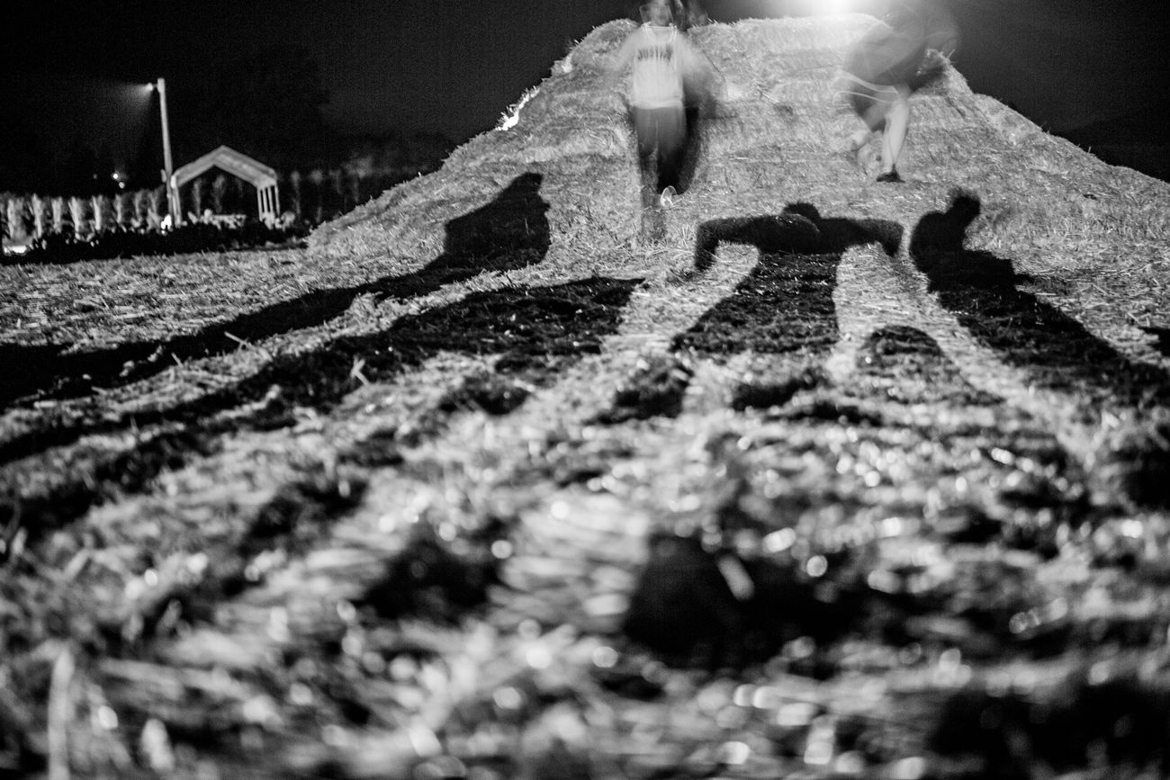 B&w B&w Photography Black And White Black Woman Children Glow In The Dark Halloween Hay Hay Pile Long Exposure Nature Outdoors Shadows Shadows & Light Shadows & Lights Shadows And Silhouettes Shadows On The Wall Tree