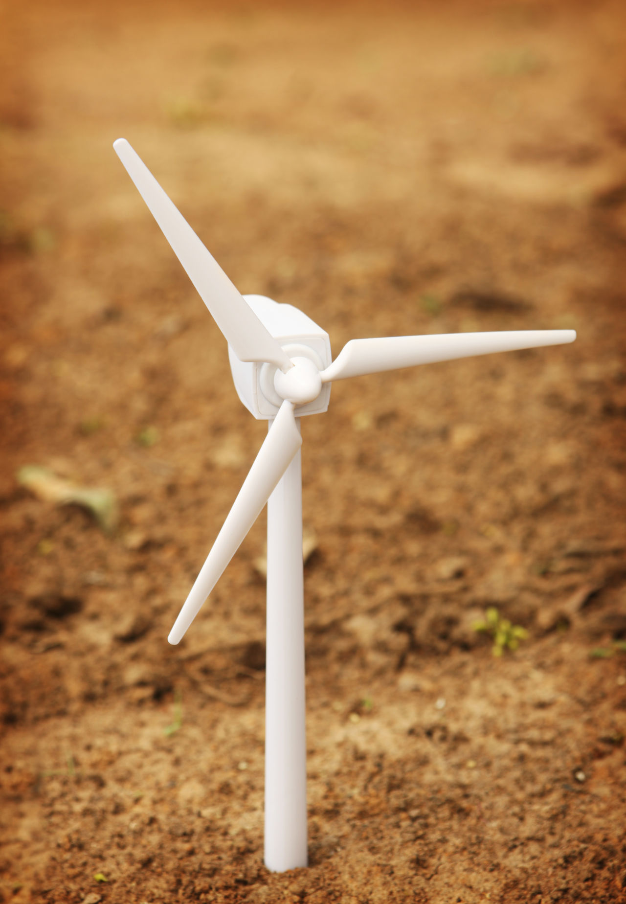 Wind Turbine in Ground Alternative Energy Day Environment Environmental Conservation Green Green Energy Miniature Outdoors Power Toy Wind Wind Power Wind Power Generator Wind Turbine Wind Turbines