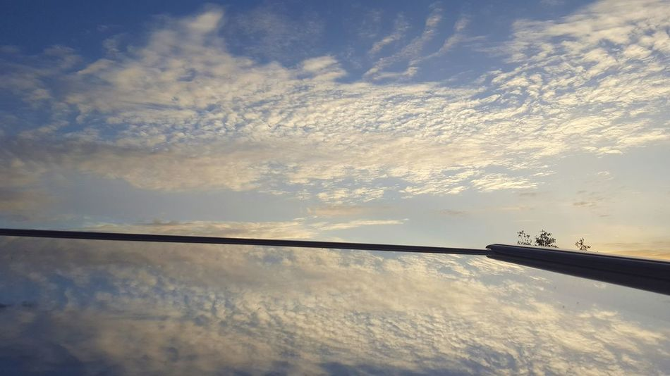 Reflection Beauty In Nature Sky Outdoors Clouds And Sky No Filter, No Edit, Just Photography Nature Photographer Blue Sky Window Reflections Cloudslovers Clouds, Nature, My View