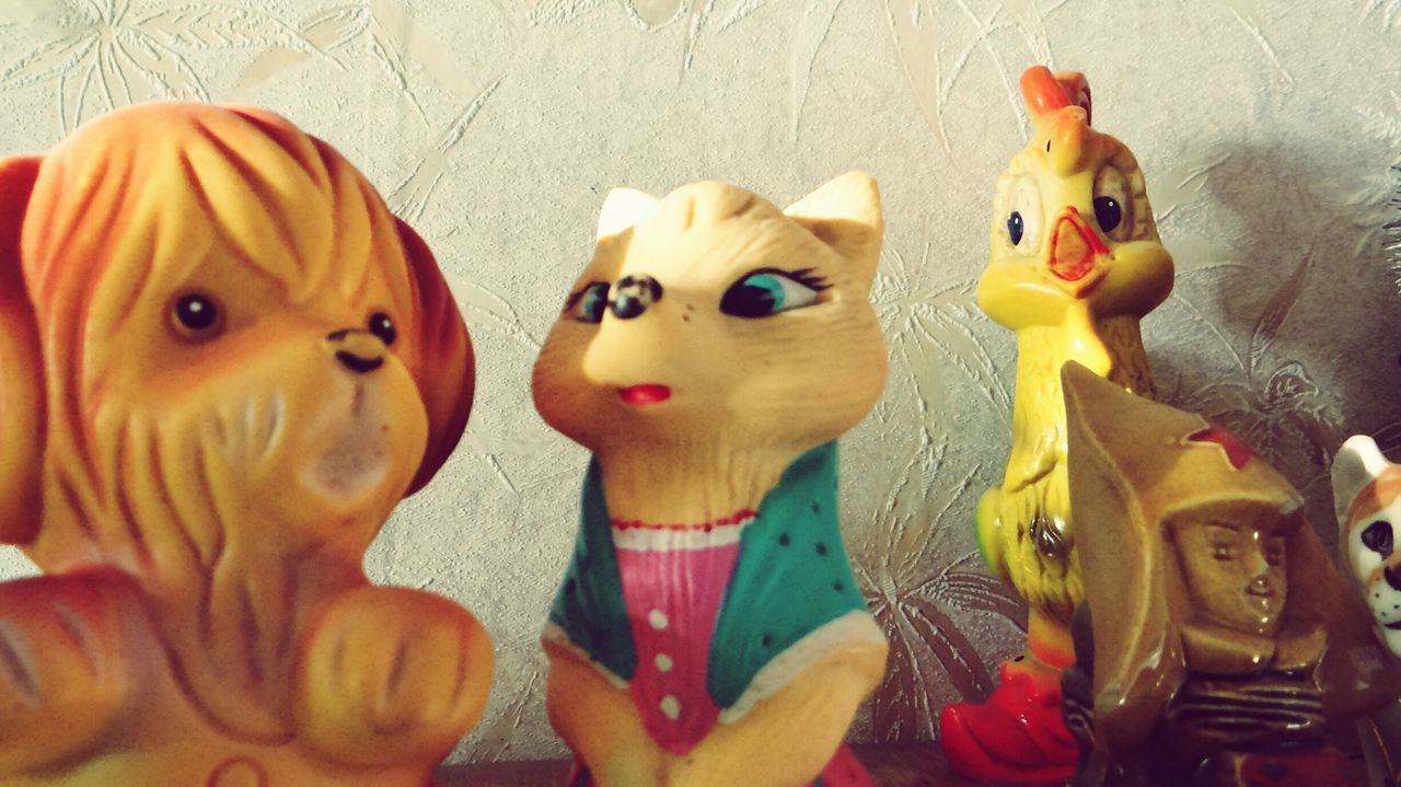 Pets Animal Themes No People Close-up Multiple Image Indoors  Togetherness Day Mammal Toy Toys Toyphotography Ussrstyle Ussr Toys