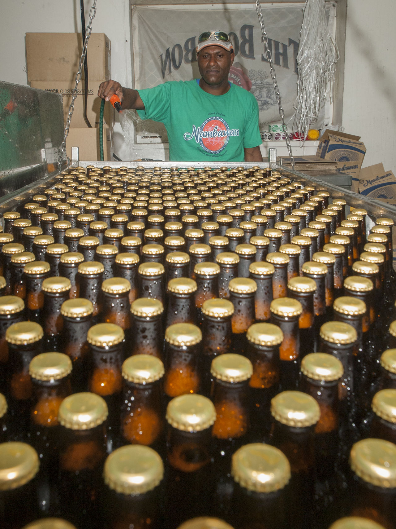 Nambawan Brewing Co Lini Highway Port Vila Vanuatu Abundance Arrangement Brown Circle Culture Indoors  Large Group Of Objects Nambawan Brewing Co Port Vila Vanuatu Surface Level Vivid International
