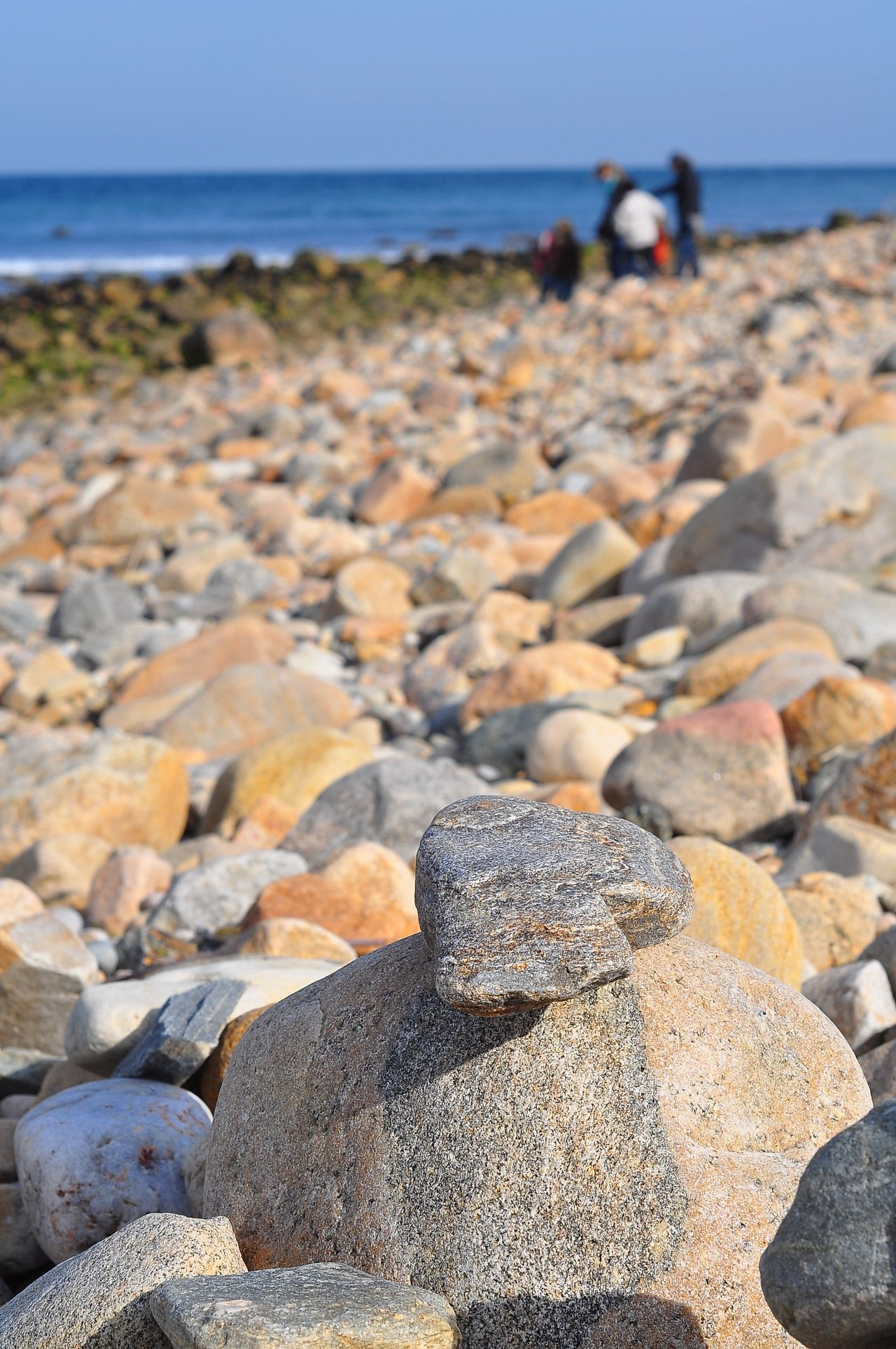 Adult Adults Only Beach Close-up Day Hampton Beach Horizon Over Water New York Outdoors People Rock - Object Sea Stone