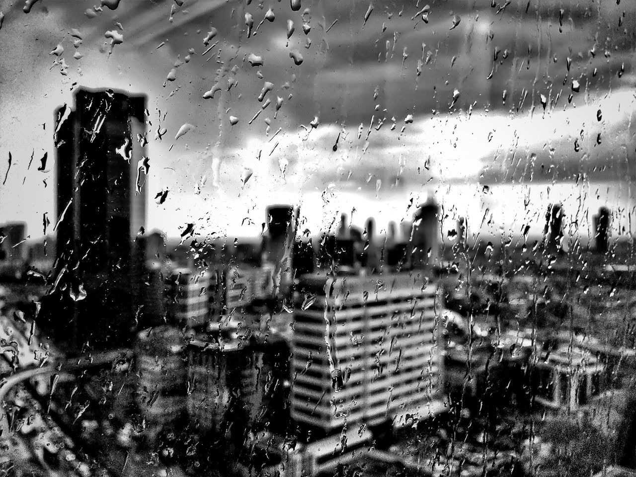 Rain behind the window ☔☁ Blackandwhite Nature Black & White