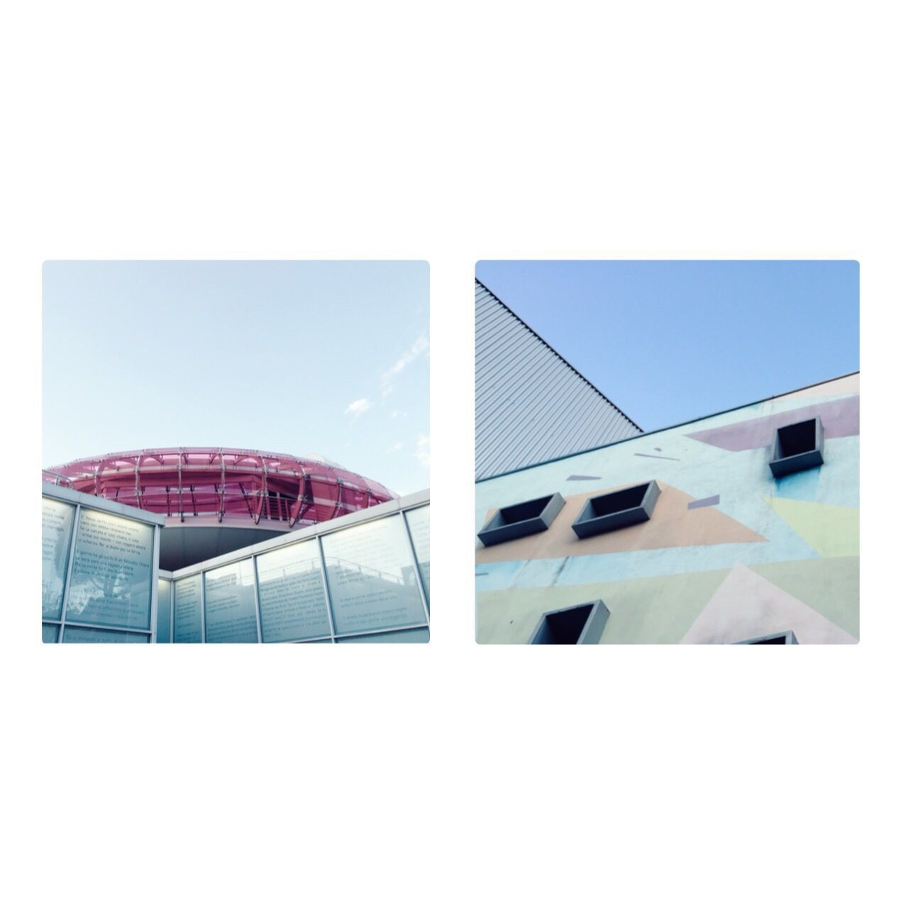 Cut And Paste Teatro Brecht and Mediateca Sandro Penna, by Claudia Ioan Architecture Building Exterior Built Structure No People Day Outdoors City Modern Perugia Diptych Break The Mold VSCO The Secret Spaces EyeEm Diversity Art Is Everywhere Cityscape Urban The Architect - 2017 EyeEm Awards