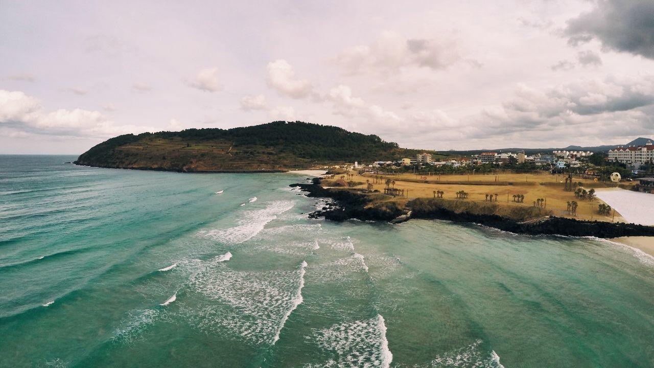 Skyview JEJU ISLAND  Beach Oreum Dronephotography Drone