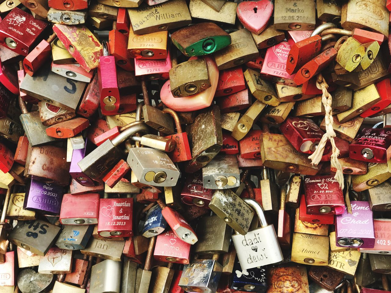 Large Group Of Objects Padlock Abundance Full Frame Love Lock Lock Security Love Backgrounds Safety Metal Close-up Protection No People Variation Luck Hope Faith Trust Outdoors Cologne