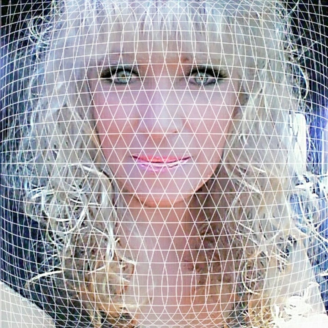 Portrait Looking At Camera One Person One Woman Only Close-up Adults Only People Women Netting Adult Sequin Cage Indoors  Young Adult Only Women Day have a beautiful day!😃💜
