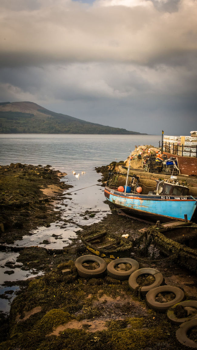 Arran  Boat Clouds Island Lake Travel Photography