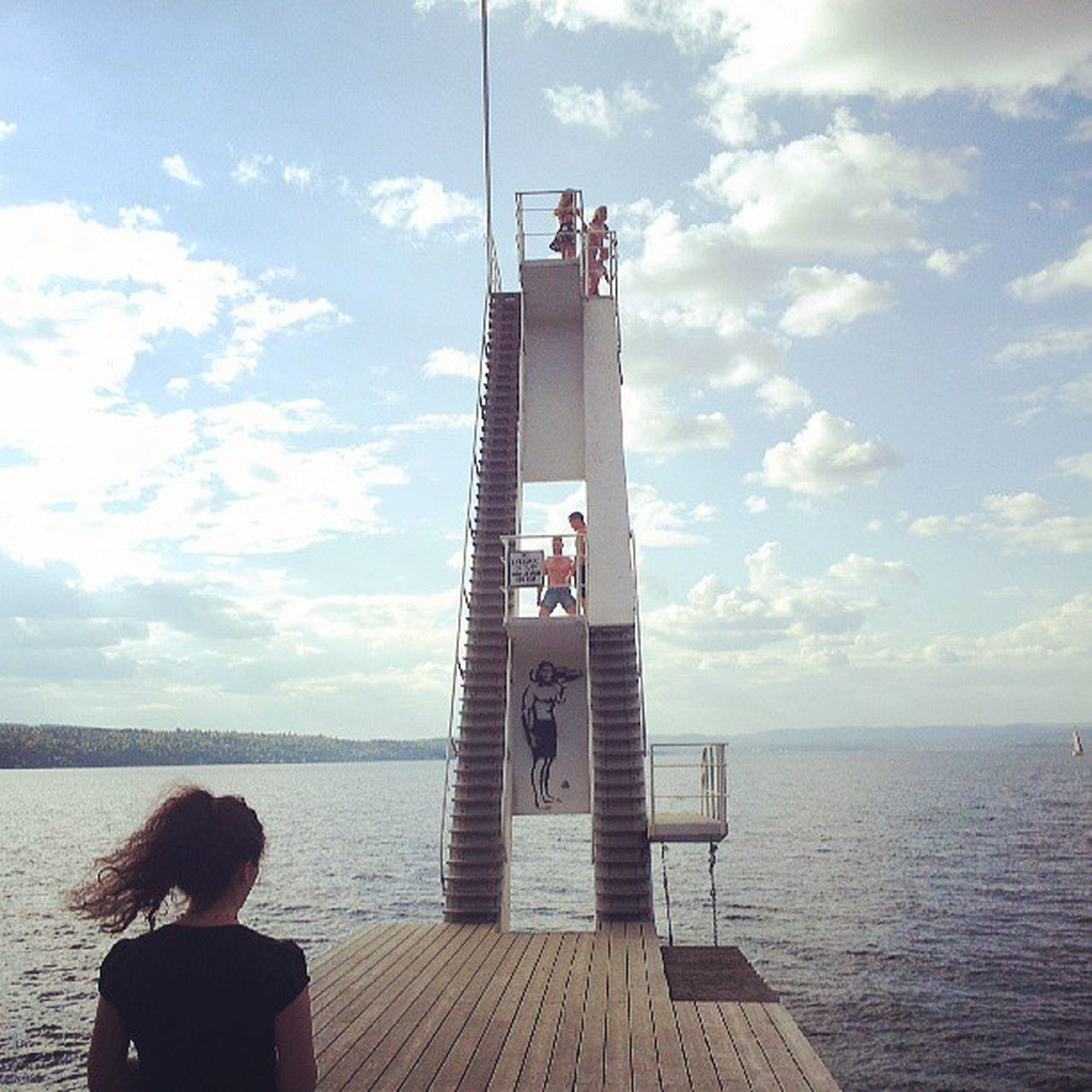 Ingj ærstrand Norge Bluesky Sunshine solskinn oslo akershus stupetårn stuping diving divingtower summer sommer bathing bading norway